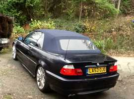 BMW 3 Series, 2004 (53) Blue Convertible, Automatic Petrol, 86,000 miles