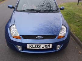 Ford StreetKa, 2003 (03) Blue Convertible, Manual Petrol, 110,000 miles