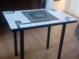 Coffee table with mosaic top