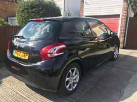 Peugeot 208, 2013 (63) Black Hatchback, Manual Petrol, 59,000 miles