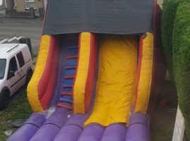 Large inflatable terror slide