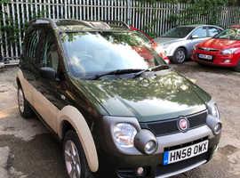 Fiat Panda, 2008 (58) Green Hatchback, Manual Diesel, 62,870 miles