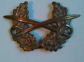RAF Brass crossed swords badge
