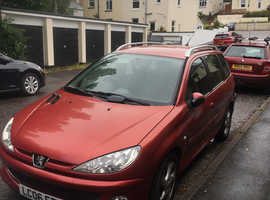 Peugeot 206, 2006 (06) red estate, Manual Diesel, 100,300 miles