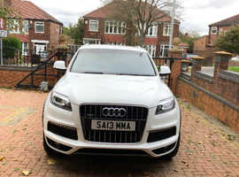 Audi Q7, 2013 (13) White Estate, Automatic Diesel, 22,798 miles