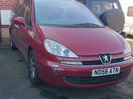 Peugeot 807, 2006 (56) Red MPV, Manual Diesel, 128 miles