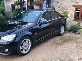 Mercedes C CLASS, 2010 (10) Black Saloon, Automatic Petrol, 94,000 miles