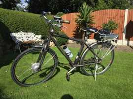 Raleigh electric bike with charger and keys been stored for some time may need attention works ok cost £1300 first £190 no offers please