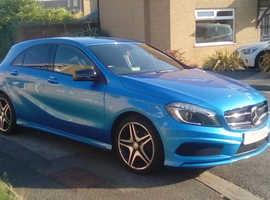 Mercedes A-CLASS, 2014 (64) Blue Hatchback, Manual Diesel, 54,395 miles