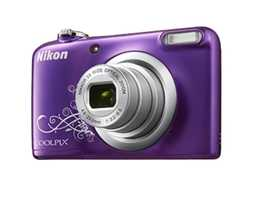 Nikon coolpix L27 camera w/ free hardback long strapped purple protection case.