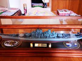 USS Missouri in Display case.