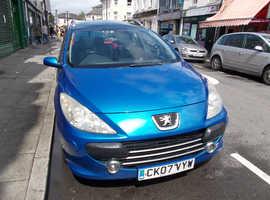 Peugeot 307, 2007 (07) Blue Hatchback, Manual Diesel, 131,800 miles