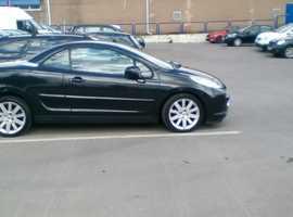 Peugeot 207, 2009 (09) Black Convertible, Manual Diesel, 70,000 miles