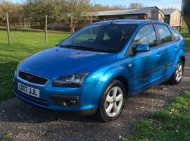 Ford Focus, 2007 (07) Blue Hatchback, Manual Petrol, 74,000 miles