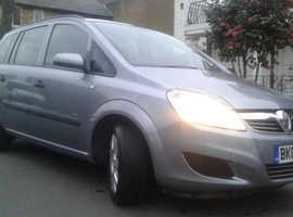 Vauxhall Zafira, 2009 (09) Silver MPV, Manual Petrol, 84,000 miles