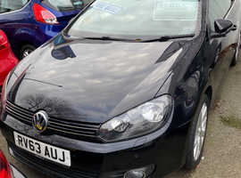 Volkswagen Golf, 2013 (63) Black Convertible, Manual Petrol, 48,438 miles