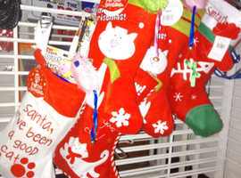 Cat Christmas surprise stocking