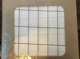 Ferm scandi designer shower curtain - brand new in package