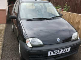 Fiat Seicento, 2003 (03) Black Hatchback, Manual Petrol, 39,500 miles