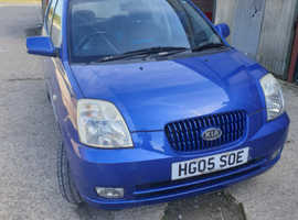 Kia Picanto, 2005 (05) Blue Hatchback, Manual Petrol, 67,025 miles
