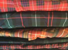 Machine washable tartan fabric