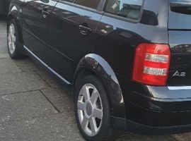 Audi A2, 2003 (03) Black Hatchback, Manual Petrol, 117,172 miles