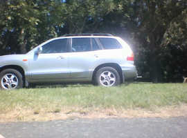 Hyundai Santa Fe, 2003 (03) Silver Estate, Automatic Diesel, 147,000 miles