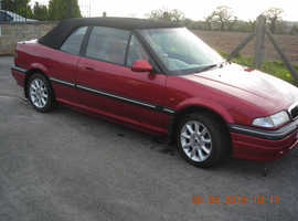 Rover 200, 1997 (P) Red Convertible, Manual Petrol, 63,000 miles