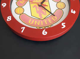 Manchester united red wall clock.##