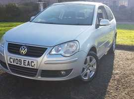 2009 VOLKSWAGEN POLO 1.2L 3 DR HATCHBACK, ONE OWNER FROM NEW, DELIVERY, NO CORSA, FIESTA,YARIS, MINI