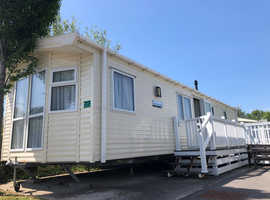 Luxury Pre Onwed static caravan for sale in Weymouth Dorset with decking on a 5* holiday park