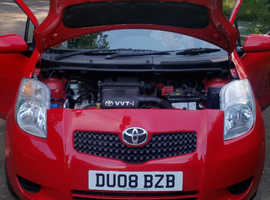 Toyota Yaris, 2008 (08) Red Hatchback, Manual Petrol, 81,760 miles