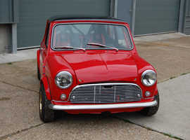 Classic Mini with ZZR1100 Motorbike engine, Mini Cooper, Race Mini