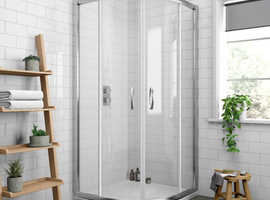 SHOWER ENCLOSURE AND QUADRANT TRAY 900mm NEW