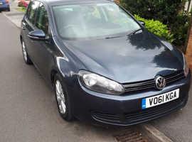 Volkswagen Golf, 2011 (61) Blue Hatchback, Diesel full v.w audi service history ,