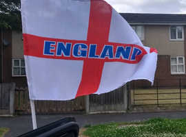 ENGLAND CAR WINDOW MOUNT ST GEORGES FLAGS BOX OF 50
