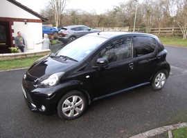 Toyota Aygo, 2012 (62) Black Hatchback, Semi auto Petrol, 25,000 miles
