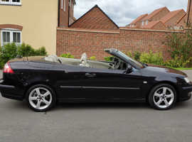 Saab 9-3, 2006 (55) Black Convertible, Manual Petrol, 84,000 miles