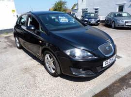 Seat Leon, 2012 (12) Black Hatchback, Manual Diesel, 60,000 miles