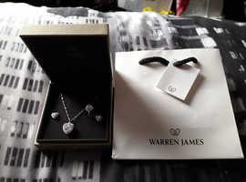 ((New)) Warren james heart shape jewelry set.