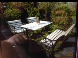 Set of Garden + table + bench + 2 chairs