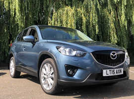 Mazda CX-5, 2015 (15) Blue Estate, Automatic Diesel, 84,400 miles