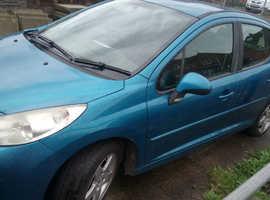 Peugeot 207, 2008 (08) Blue Hatchback, Manual Petrol, 130 miles