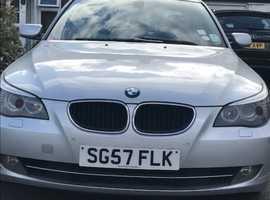 BMW 5 Series, 2007 (57) Silver Saloon, Manual Diesel, 177,000 miles