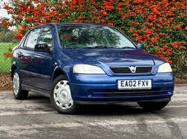 Vauxhall Astra, 2002 (02) Blue 1.6 CLUB Hatchback, Manual Petrol, 74,233 miles, LONG MOT MAY 2020