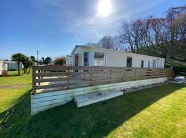 Sited Static Caravan With Full Wrap Decking Available At Wigbay  - West Scotland - Near Ireland