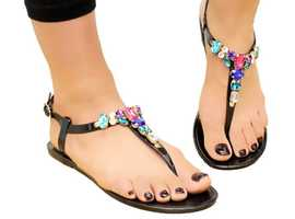 Coloured Diamante Jelly Shoes