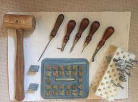 Leather Making Misc. Tools  (Sewing / Hammer / Stamps)