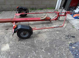 floor loading single bike trailer,,