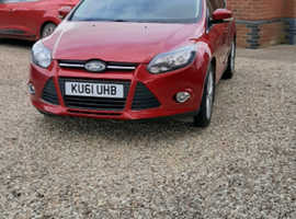 Ford Focus, 2011 (61) Red Hatchback, Manual Petrol, 57,900 miles